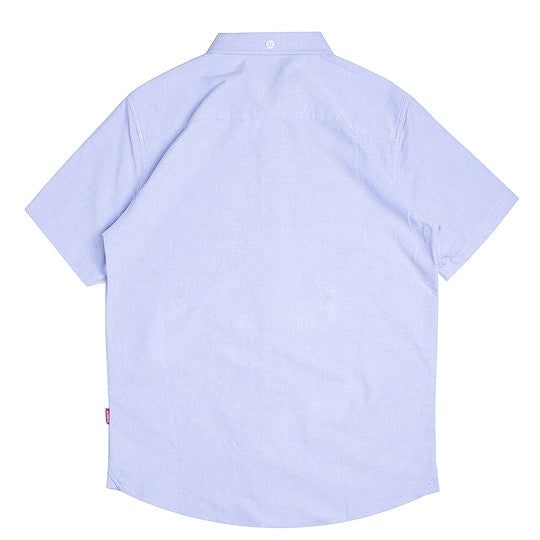 Basic Oxford Short Sleeve Shirt | Blue
