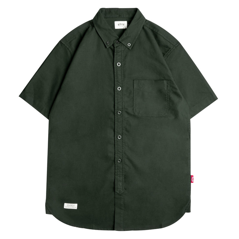 Basic Oxford Short Sleeve Shirt | Olive