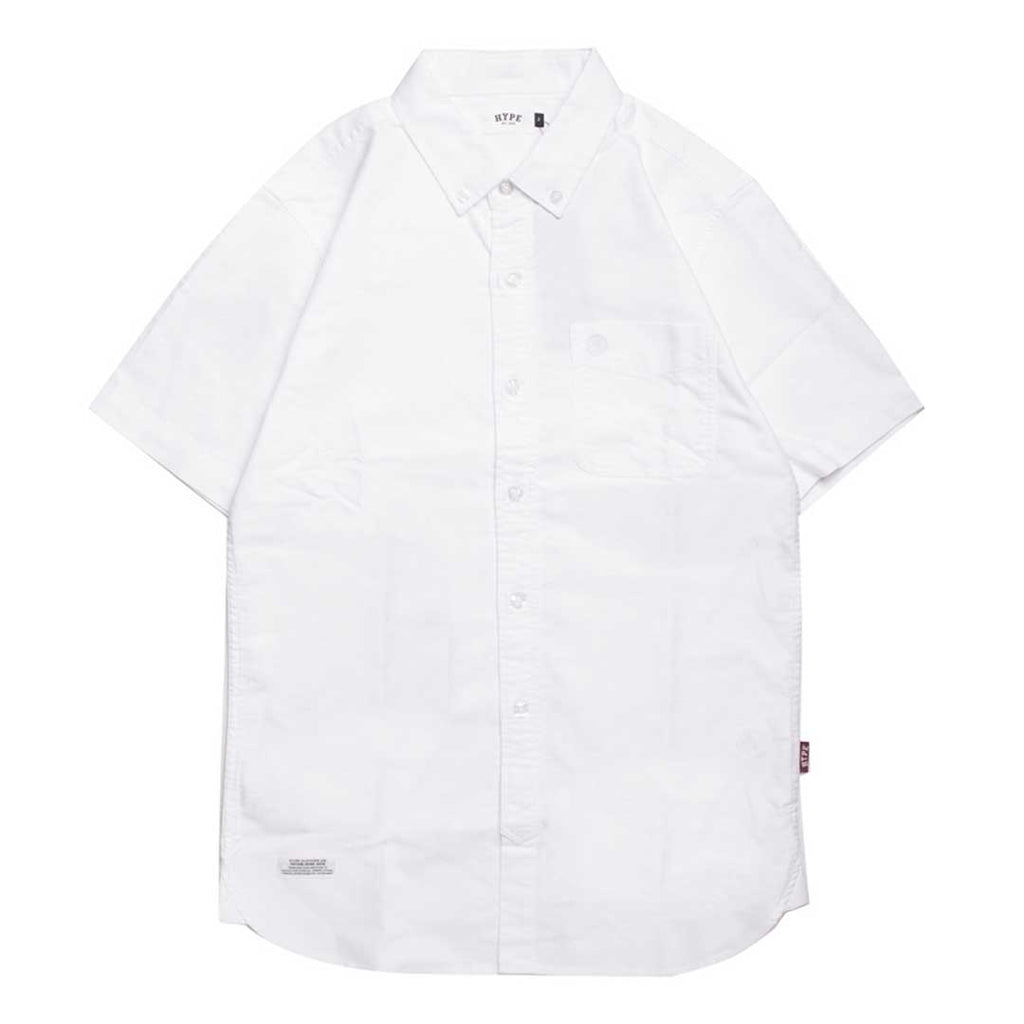 Basic Oxford Short Sleeve Shirt | White
