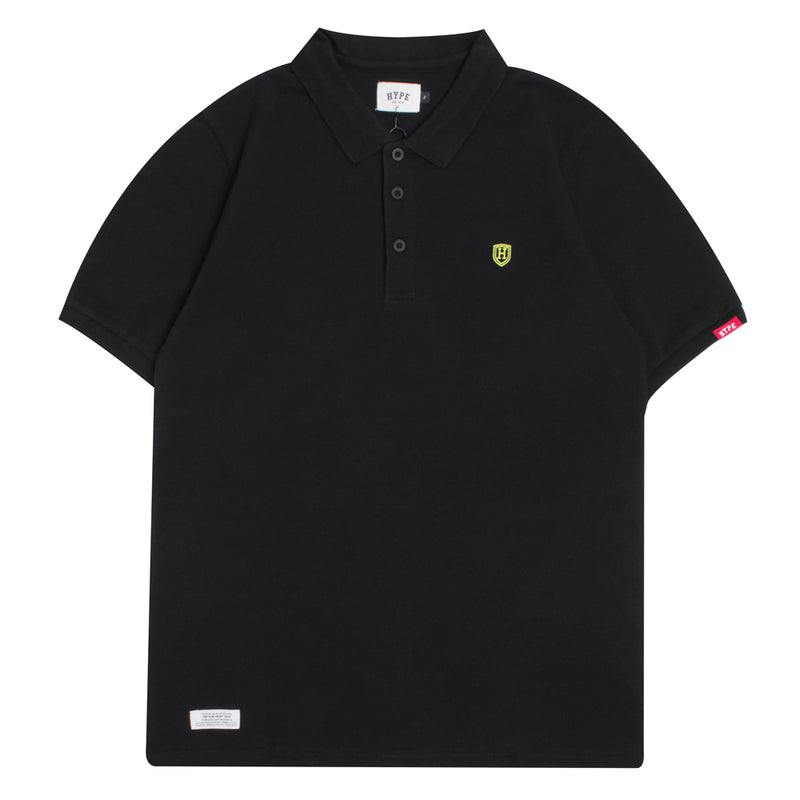 Basic Plain Short Sleeve Polo | Black