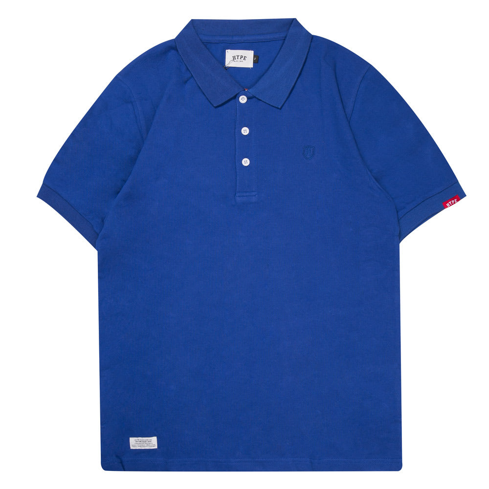 Basic Plain Short Sleeve Polo | Blue