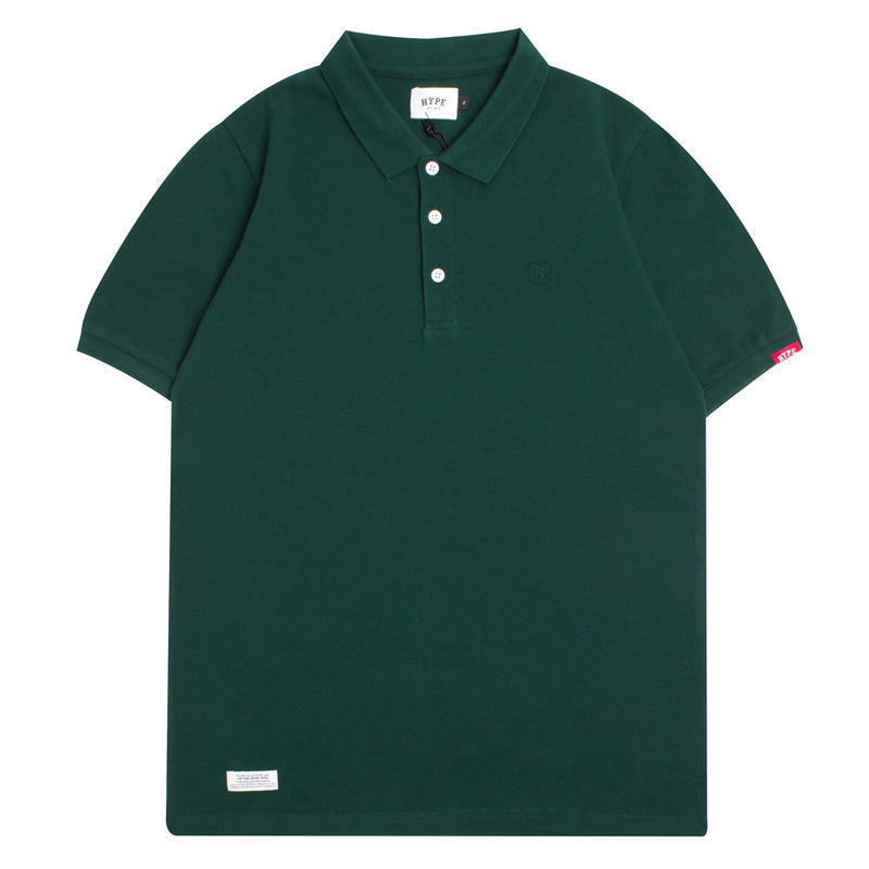 Basic Plain Short Sleeve Polo | Green