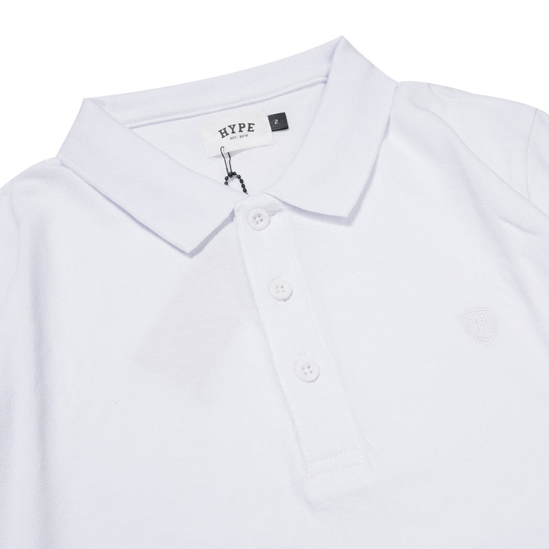 Basic Plain Short Sleeve Polo | White