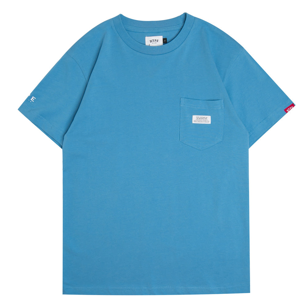 Basic Pocket Short Sleeve Tee | Blue
