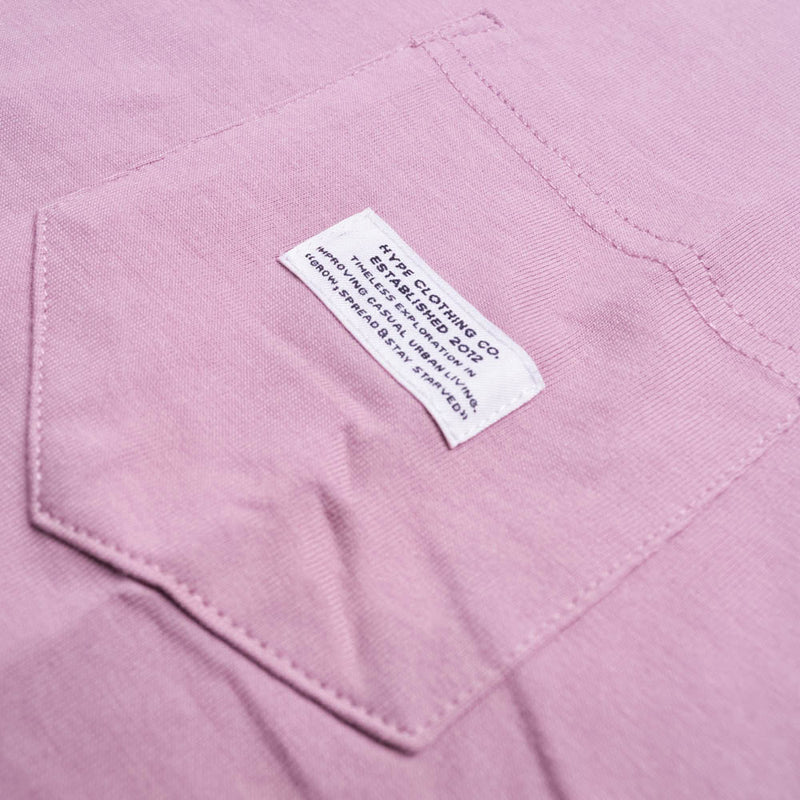 Basic Pocket Short Sleeve Tee | Dusty Pink
