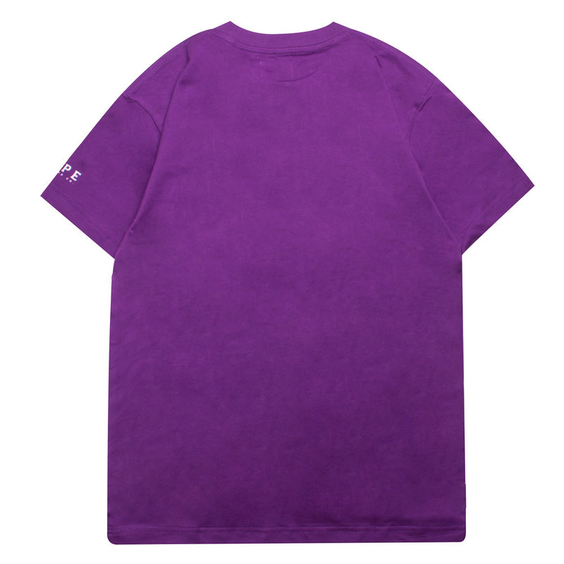 Basic Pocket Short Sleeve Tee | Purple