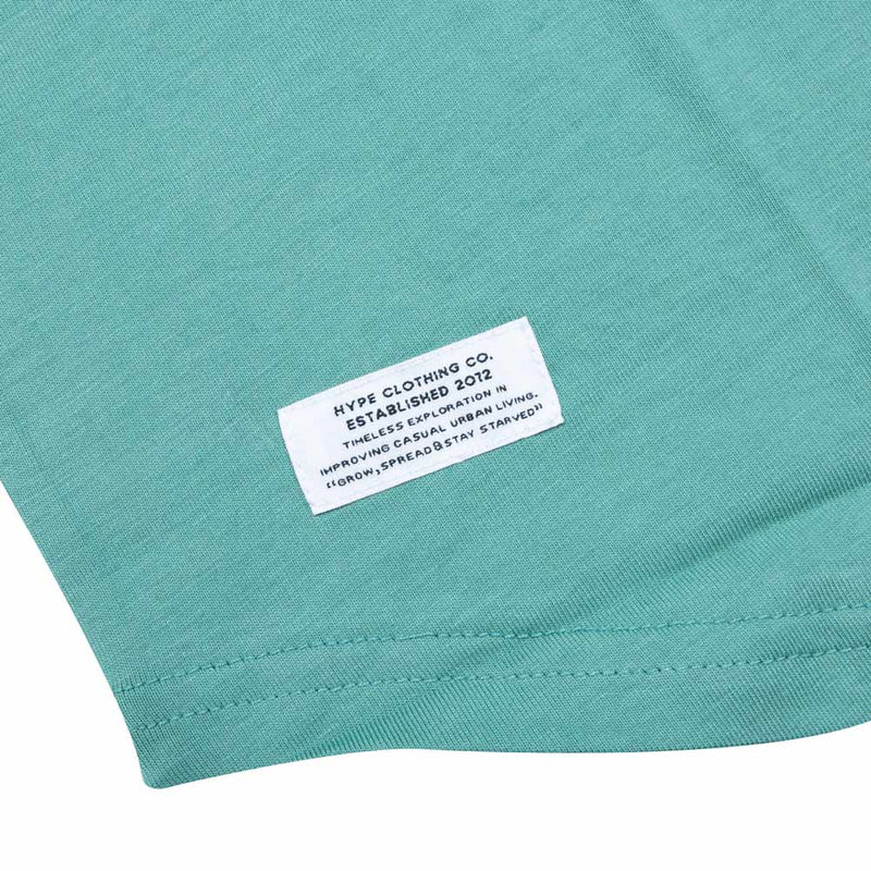 Basic 3/4 Sleeve Raglan | Dark Mint/Black