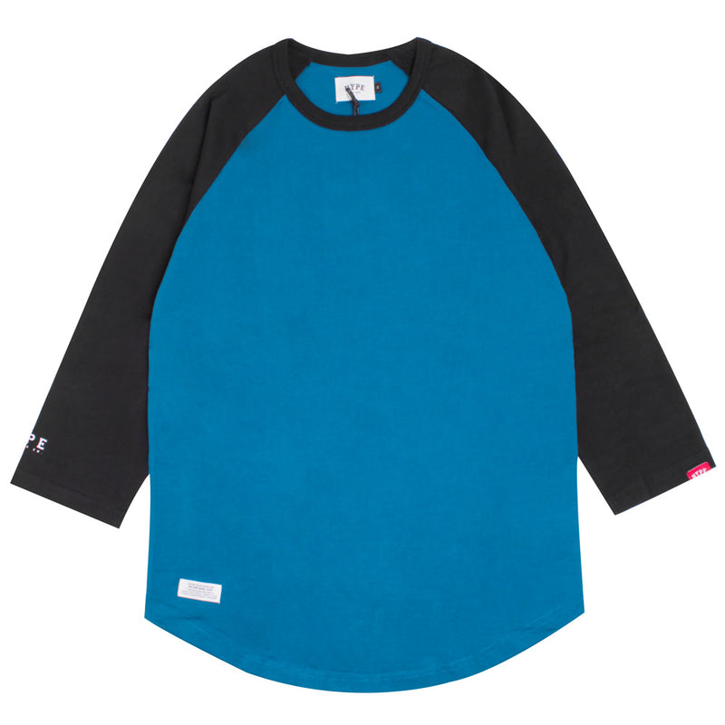 Basic 3/4 Sleeve Raglan | Turquoise/Black