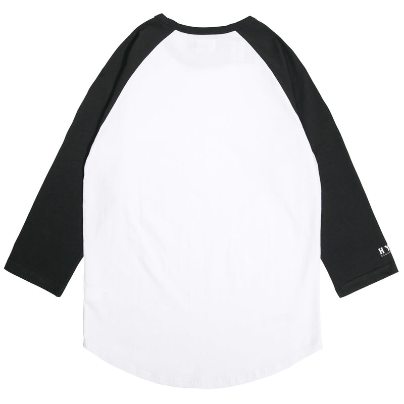 Basic 3/4 Sleeve Raglan | White/Black