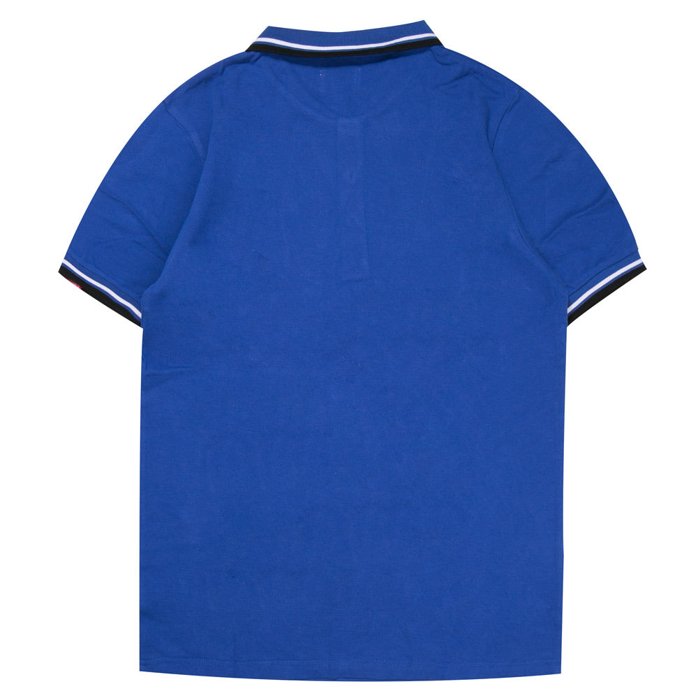 Basic Tipped Short Sleeve Polo | Blue