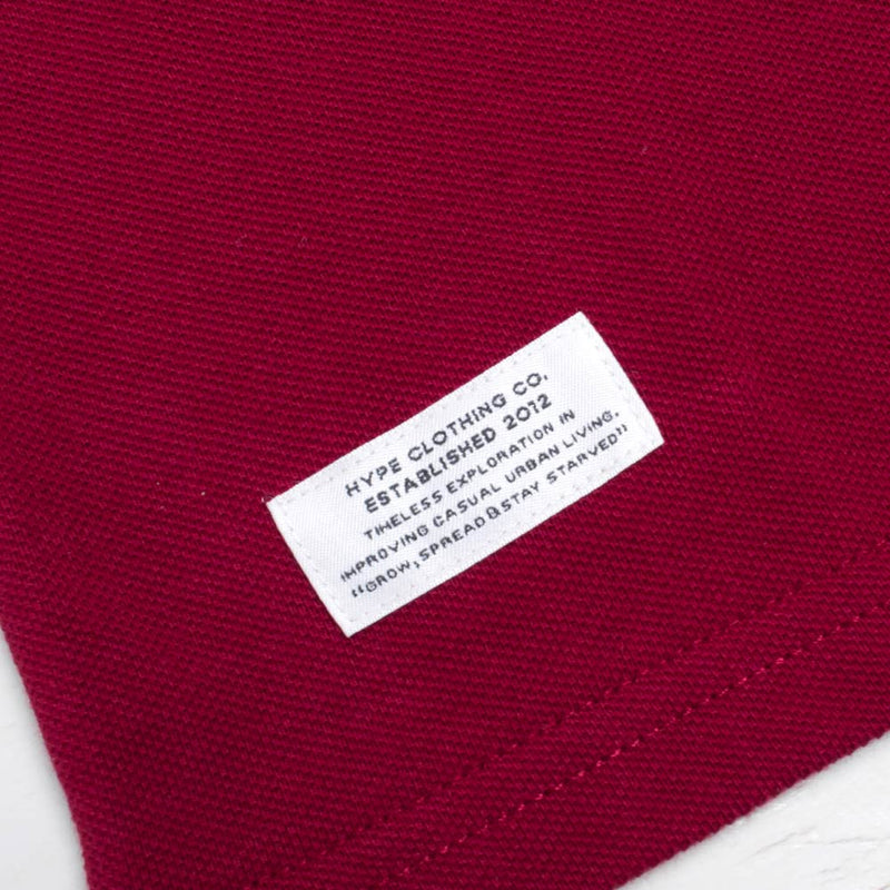 Basic Tipped Short Sleeve Polo | Maroon/White