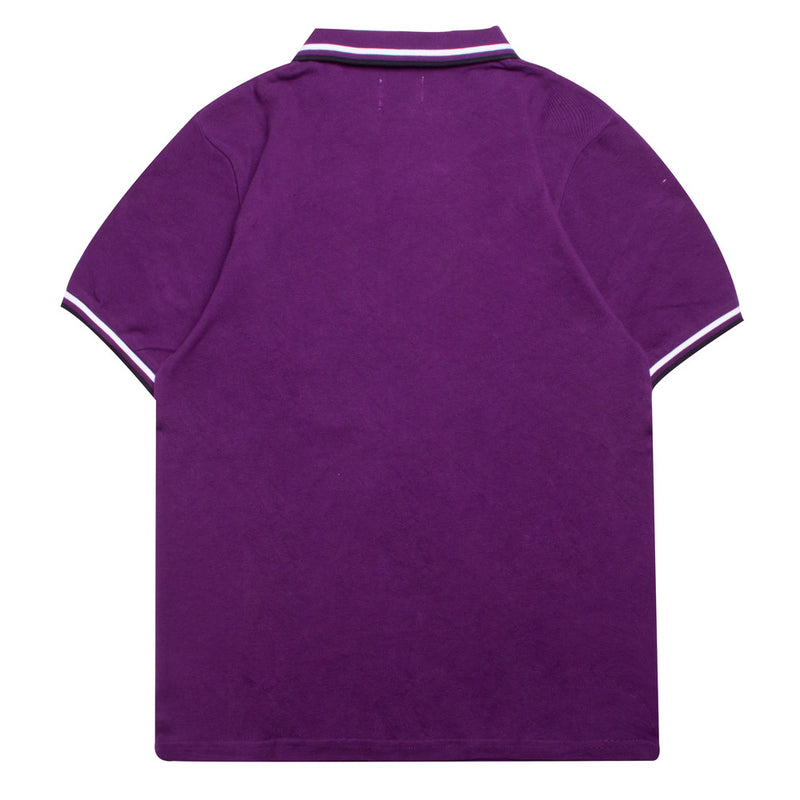 Basic Tipped Short Sleeve Polo | Purple