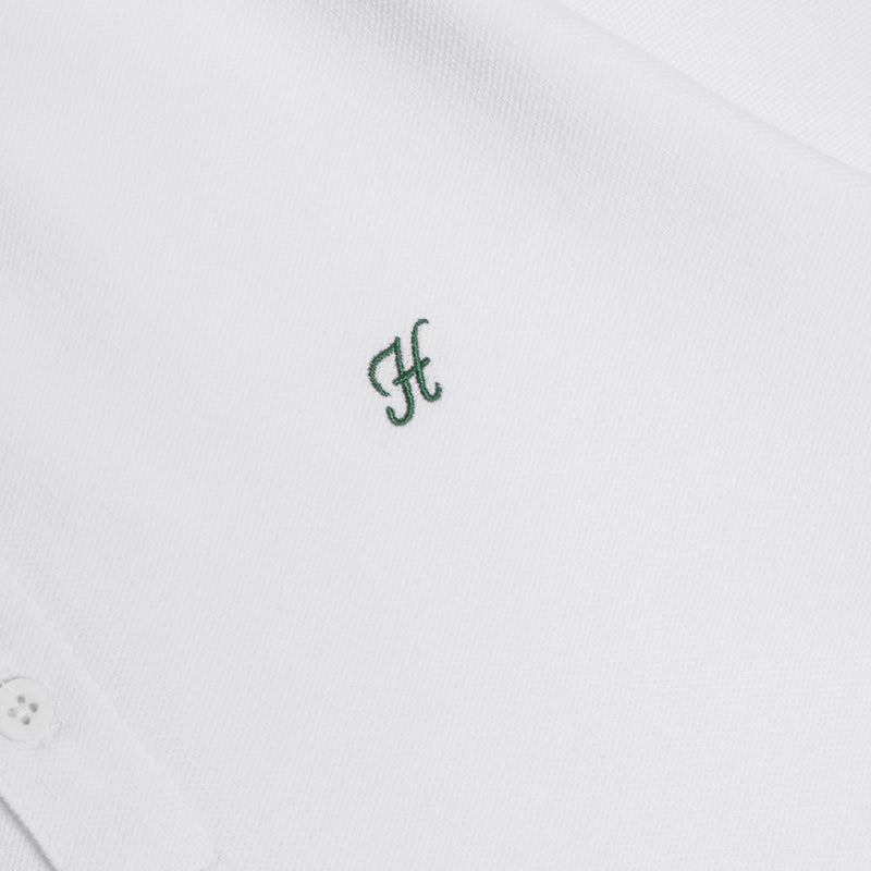 Basic Tipped Short Sleeve Polo | White/Green