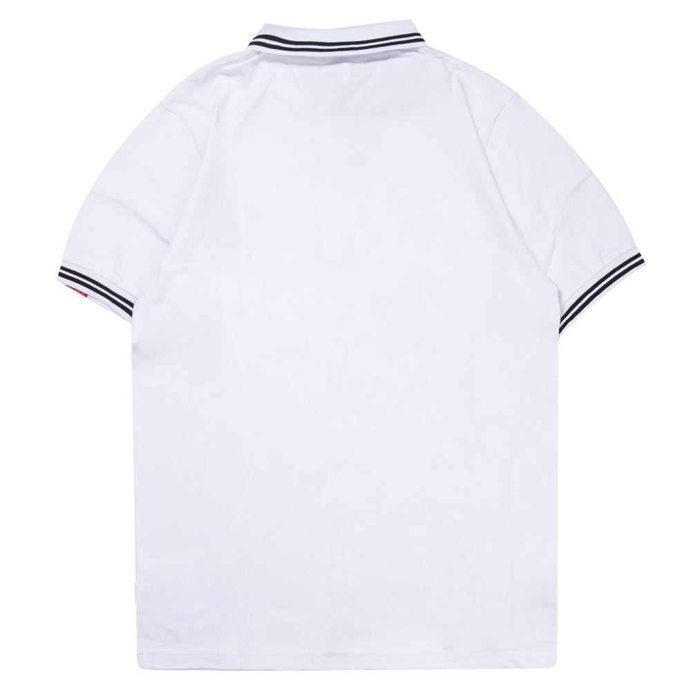 Basic Tipped Short Sleeve Polo | White