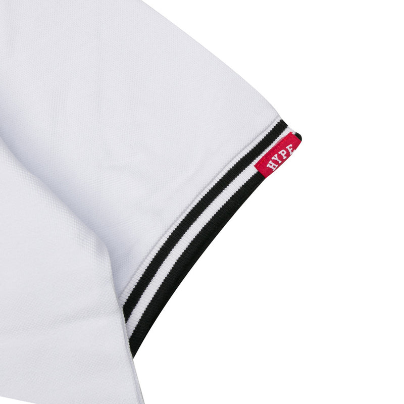 Basic Zip Short Sleeve Polo | White