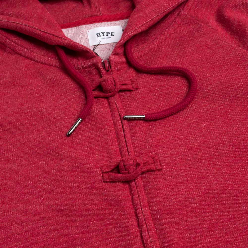 Capsule Ancient Kung-Fu Zip Hoodie | Heather Red