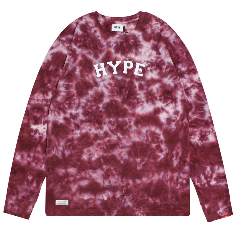 Capsule General Tie Dye Long Sleeve Tee | Maroon