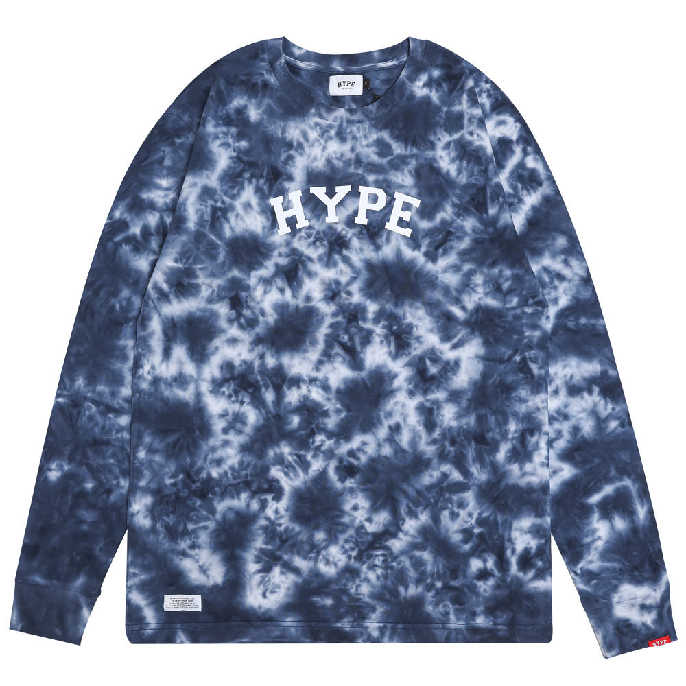 Capsule General Tie Dye Long Sleeve Tee | Navy