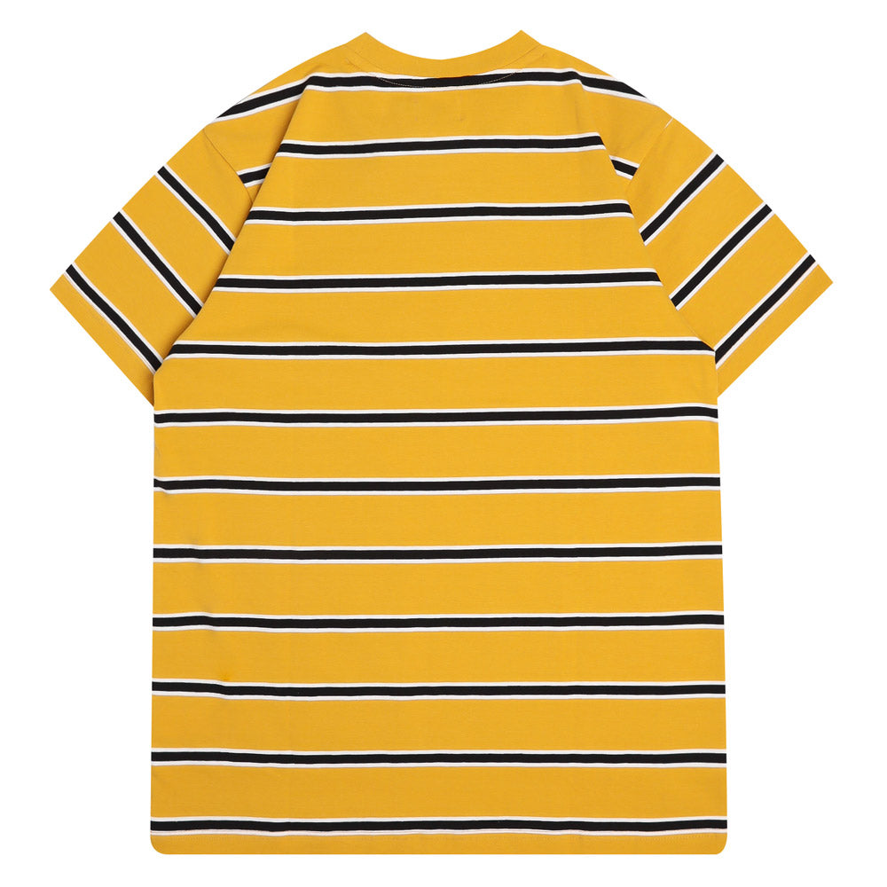 Capsule Howell Stripe Short Sleeve Tee | Mustard/White/Black