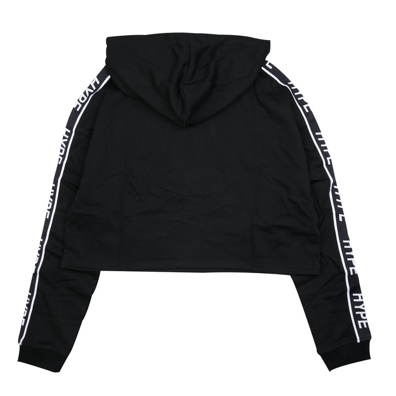 Capsule Women Authentic Sport Oversized Crop Hoodie | Black