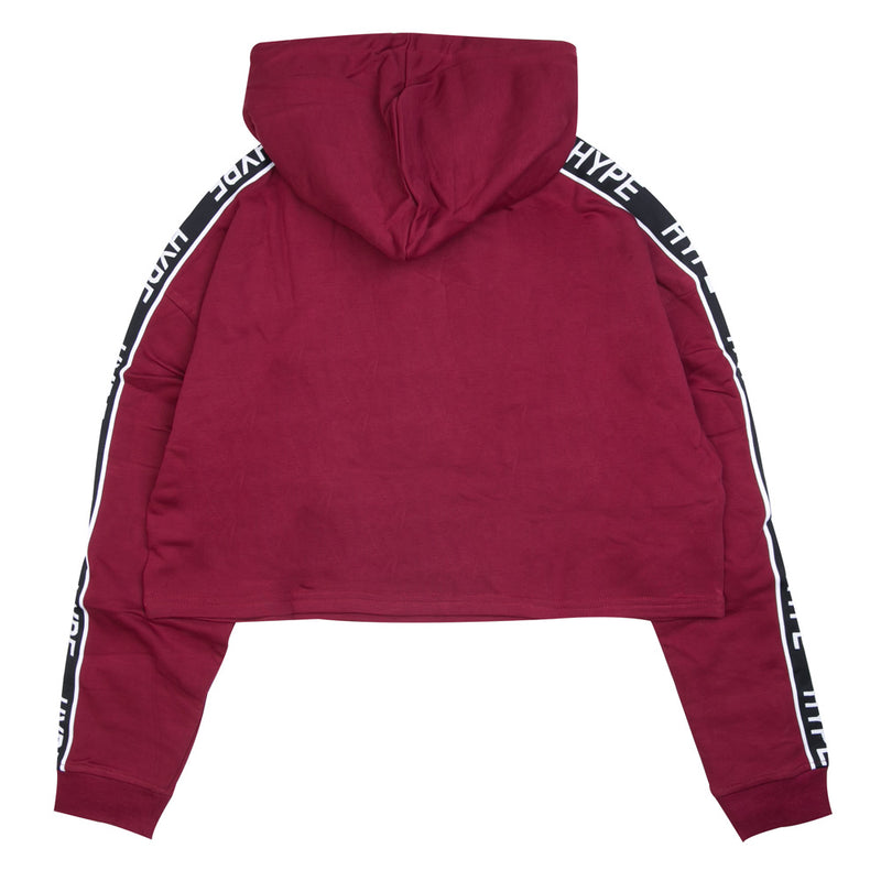 Capsule Women Authentic Sport Oversized Crop Hoodie | Maroon