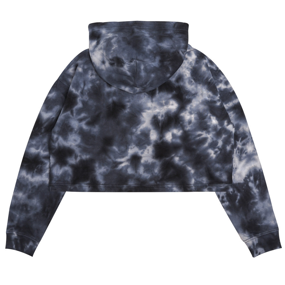 Capsule Women Chief Tie Dye Oversized Crop Hoodie | Black