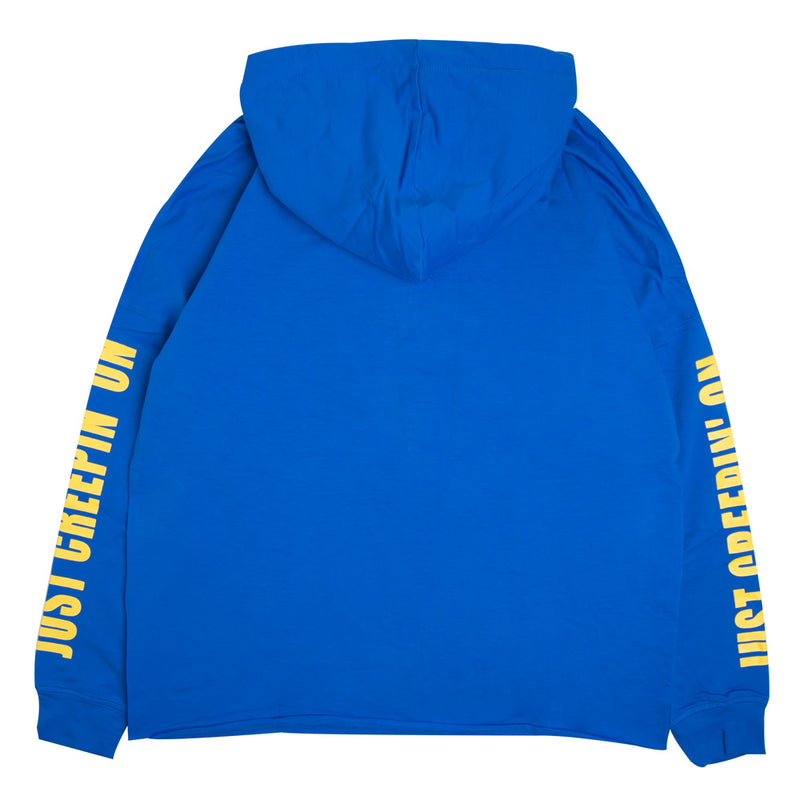 Capsule Women Double Coupon Oversized Pullover Hoodie | Blue