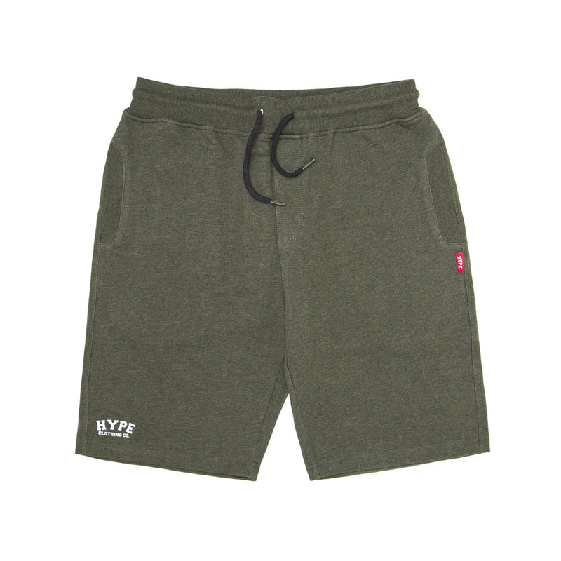 Signature Chief Short Sweatpants | Dark Heather Green