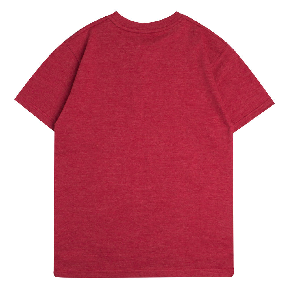 Capsule Cursive Short Sleeve Tee | Heather Red