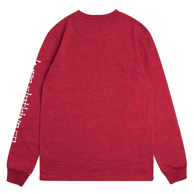 Capsule Clerical Long Sleeve Tee | Heather Red