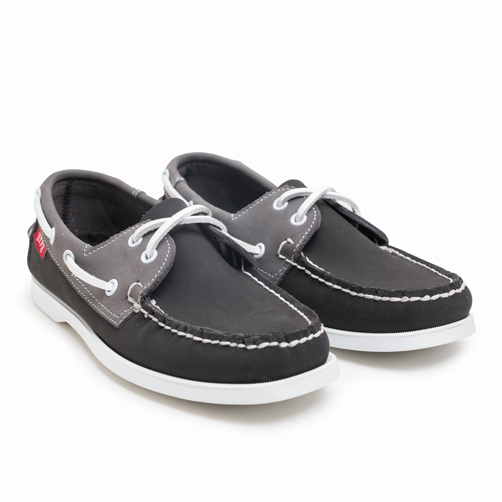Seasonal Deck Shoes | Black/Grey