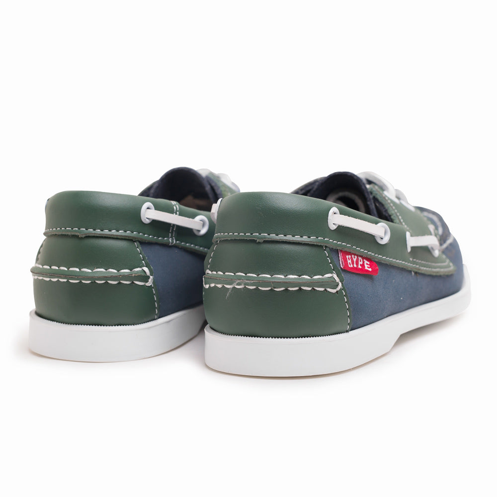 Seasonal Deck Shoes | Navy/Green