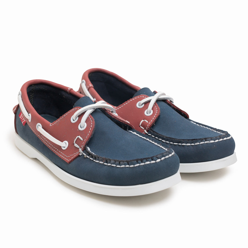 Seasonal Deck Shoes | Navy/Red