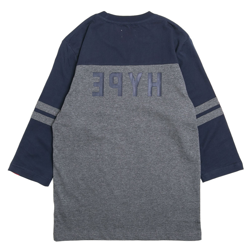 Seasonal Hamilton Reneganes Vintage 3/4 Sleeve Raglan | Dark Grey/Navy