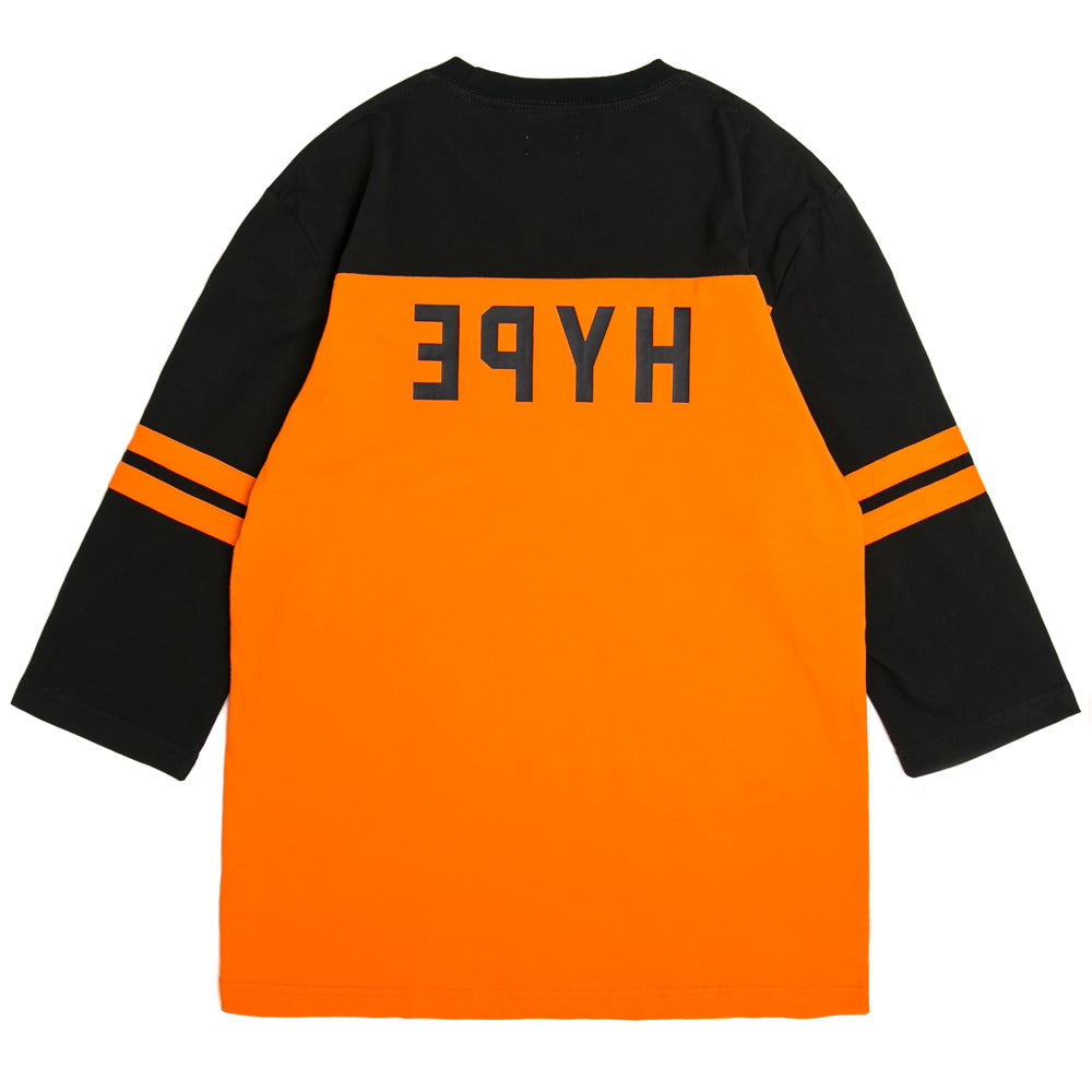 Seasonal Hamilton Reneganes Vintage 3/4 Sleeve Raglan | Orange/Black