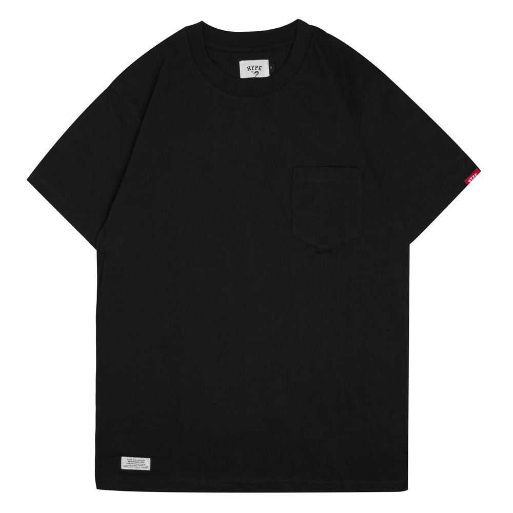 Seasonal Label Pocket Short Sleeve Tee | Black