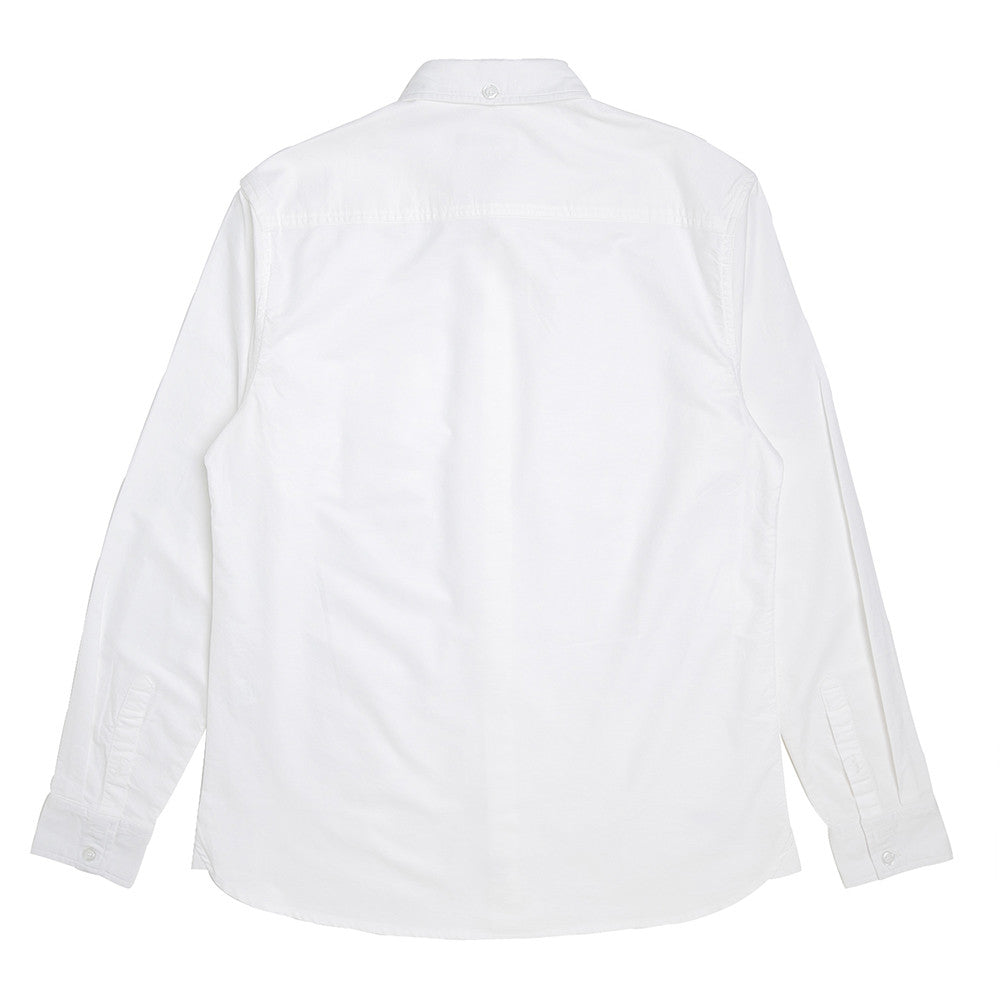 Basic Oxford Long Sleeve Shirt | White