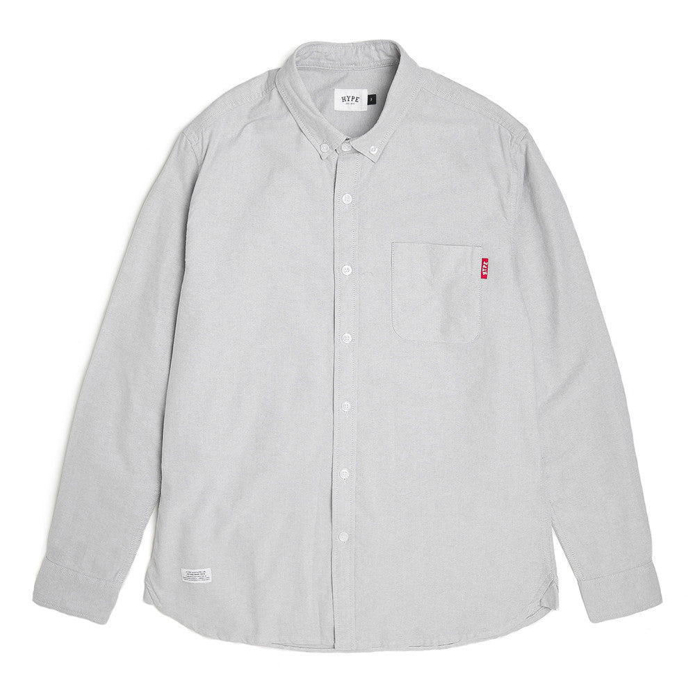Basic Oxford Long Sleeve Shirt | Light Grey