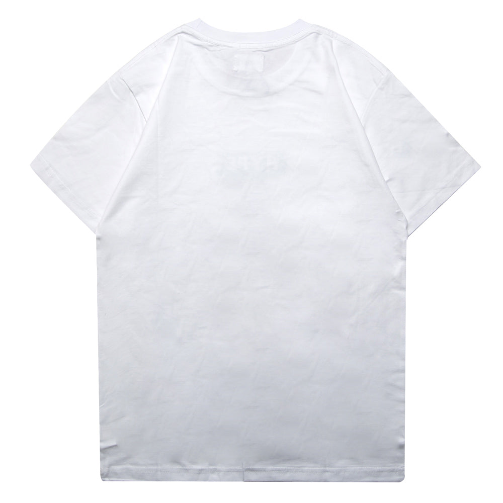 Seasonal Abstract Short Sleeve Tee | White