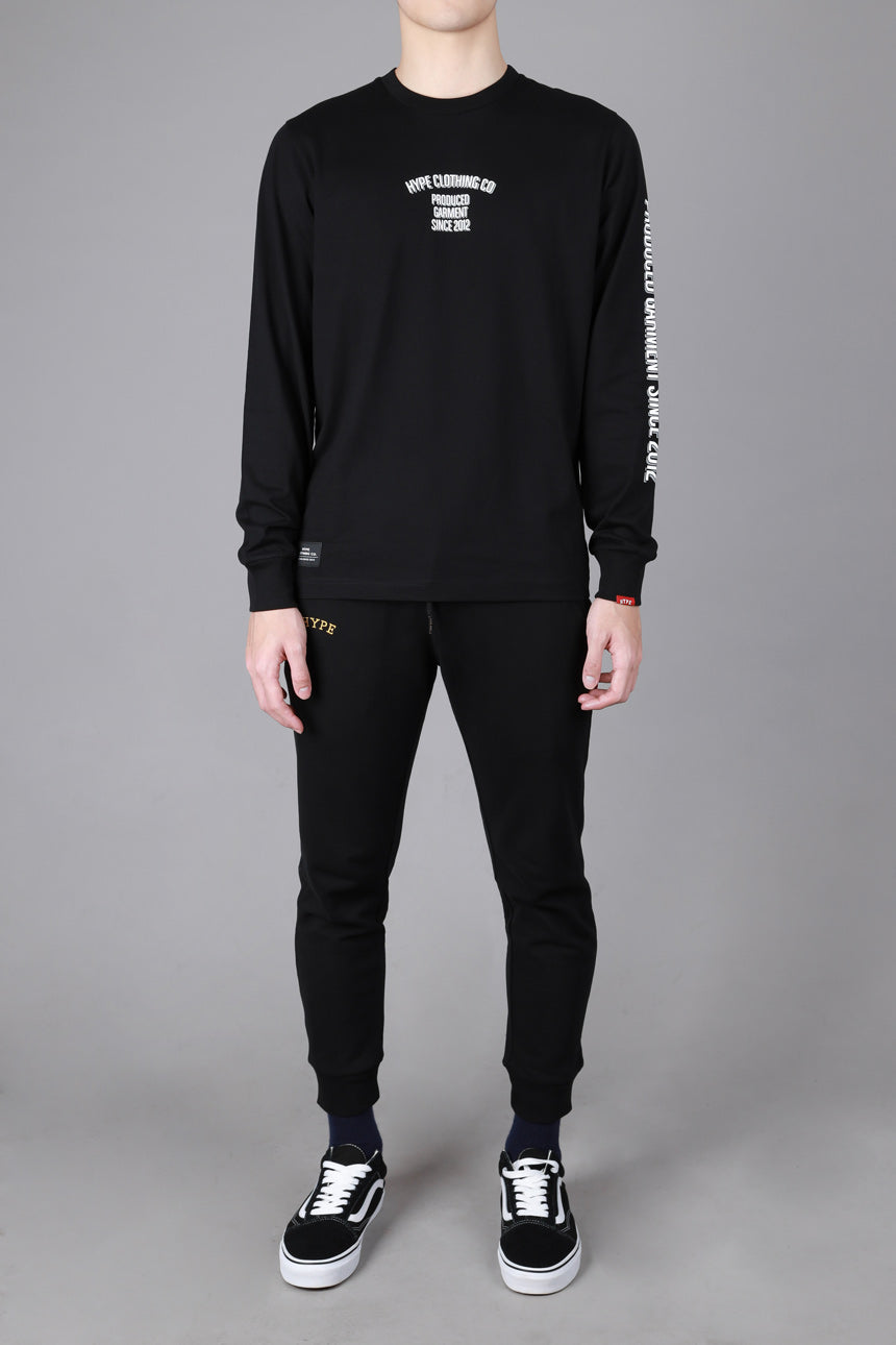 Seasonal Brian Long Sleeve Tee | Black