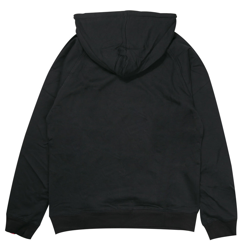 Seasonal Label Pullover Hoodie | Black