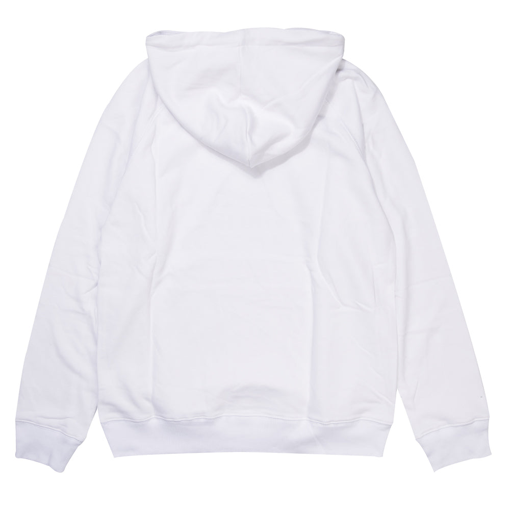 Seasonal Label Pullover Hoodie | White