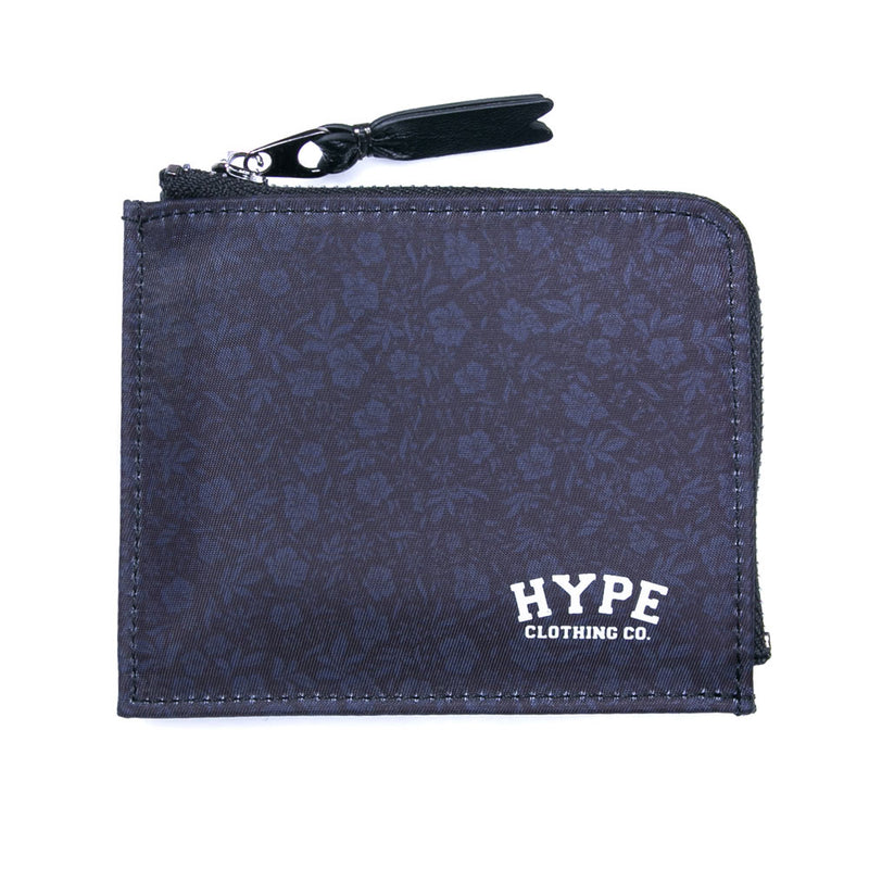 Seasonal Oliver Zip Wallet | Black Floral