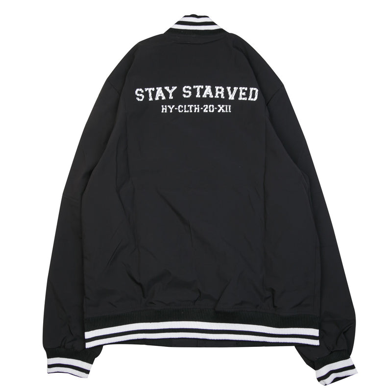 Seasonal Reed Varsity Jacket | Black