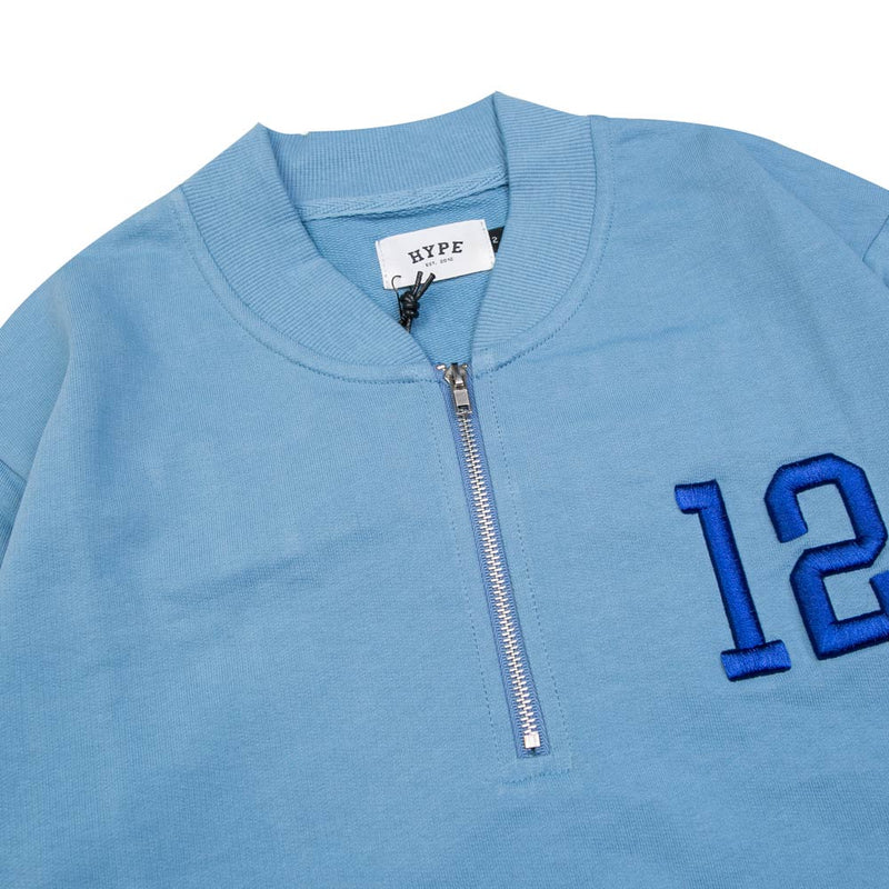 Seasonal Ryan Half Zip Crewneck Sweater | Blue