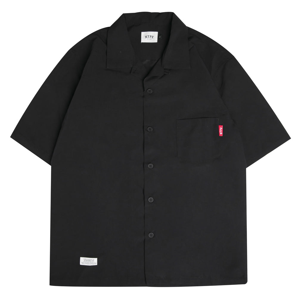 Seasonal Surf Short Sleeve Shirt | Black