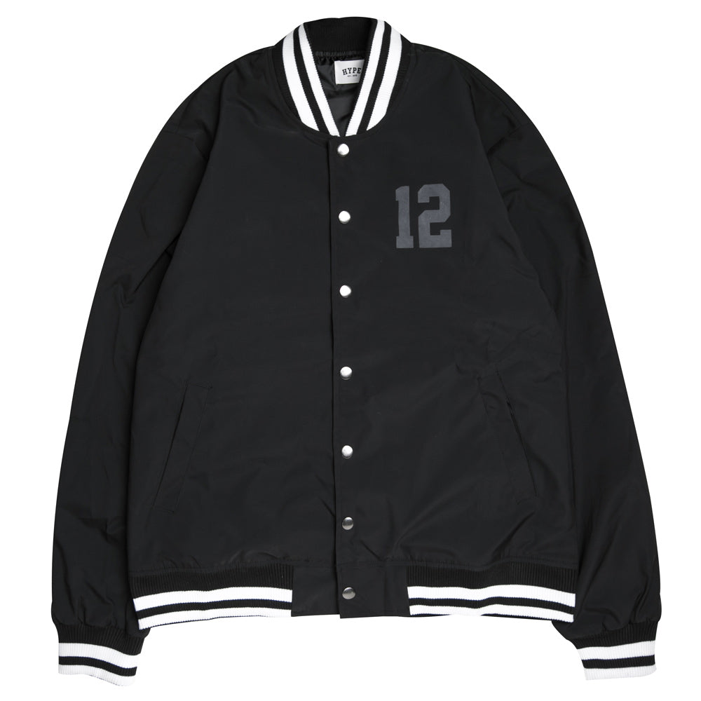 Seasonal Unity Varsity Jacket | Black