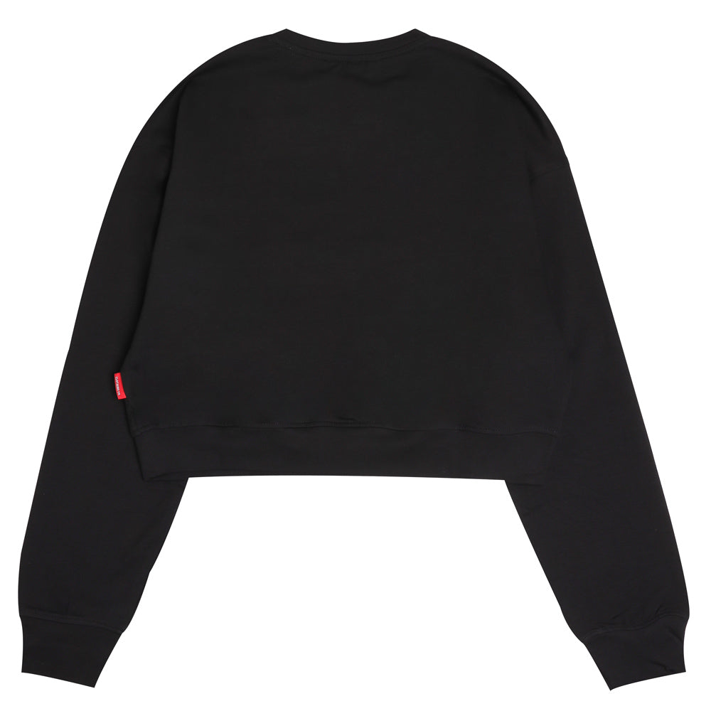 Seasonal Women Alden Oversized Long Crop Sweatshirt | Black