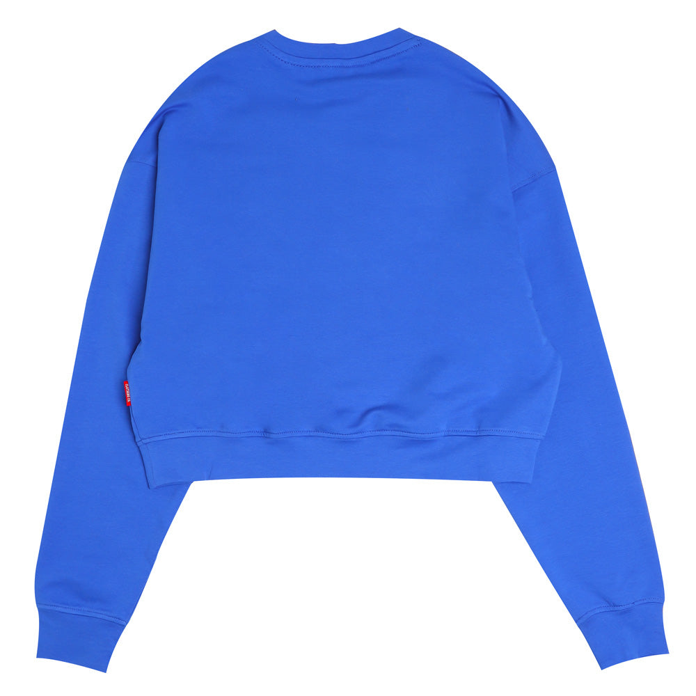Seasonal Women Alden Oversized Long Crop Sweatshirt | Blue