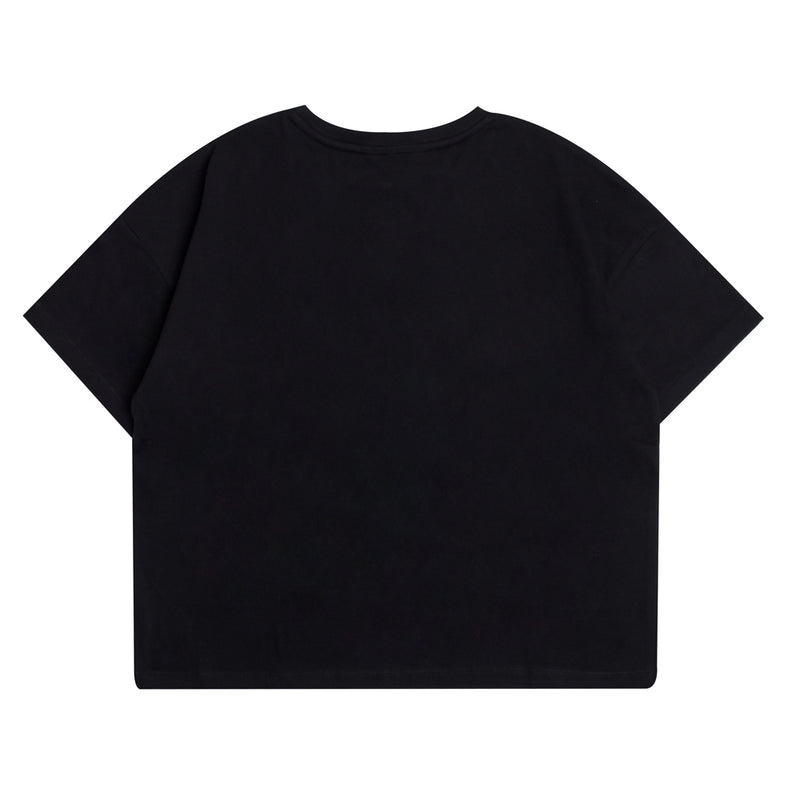 Seasonal Women Edison Oversized Crop Top | Black